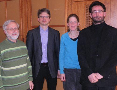 Die ReferentInnen Mag. Johannes Staudacher, Mag. Anton Rosenzopf-Jank, Sr. Ruth Pucher MC und Mag. Klaus Einspieler (© Foto: Michael Kapeller)