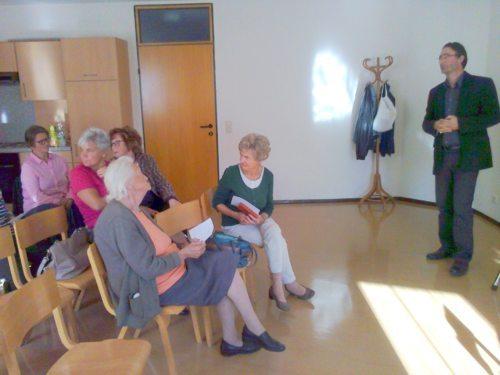 Teilnehmer am Planungsgespräch mit dem Referenten (Foto: Paul Wieser)