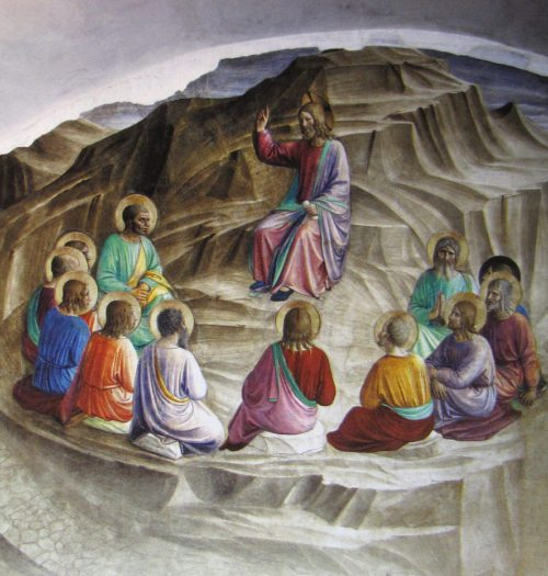 Fra Angelico, Die Bergpredigt, Fresko im Markuskloster in Florenz (© Foto: wikipedia)