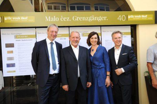 Odvetniška pisarna obhaja 40-letnico: Rudi Vouk, Matevž Grilc, Maria Škof, Roland Grilc (Gotthardt)