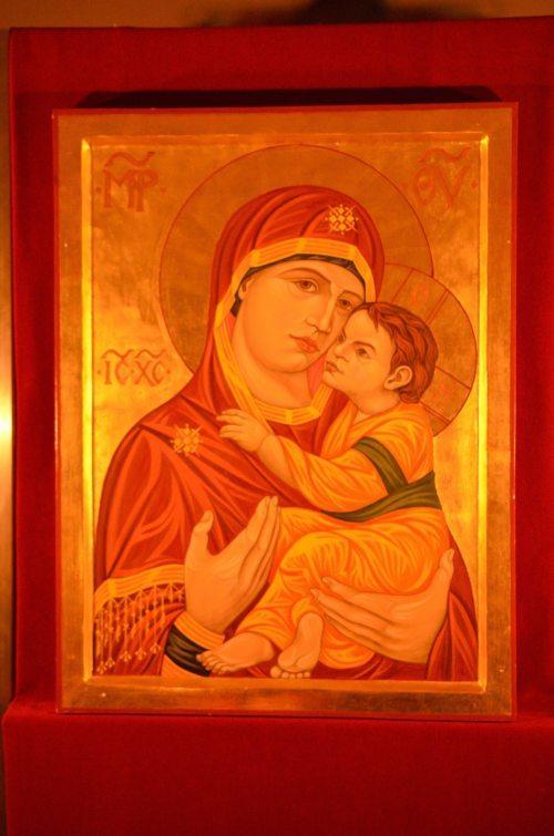 Die Maria Immaculata ist Patronin der Seminarkapelle, hier dargestellt auf einer byzantinischen Ikone (© Foto: Priesterseminar / Piotr Karaś)