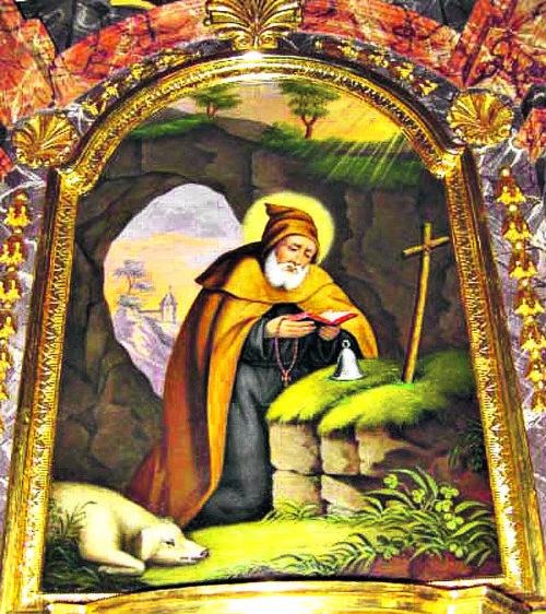 Darstellung des hl. Antonius am Seitenaltar in der Pfarrkirche Ettendorf; Foto: Pfarre Ettendorf