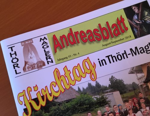 Andreasblatt (©Pfarre Thörl Maglern)