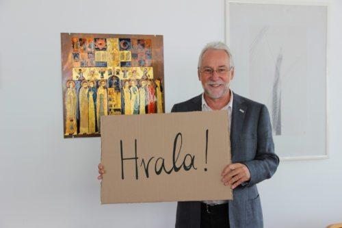 Ravnatelj koroške Caritas Jože Marketz se zahvaljuje. Foto: Caritas