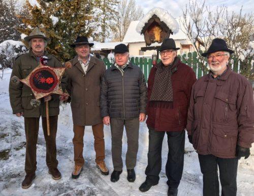 Quintett Karnitzen bei der Aufnahme des KALEDA-Liedes (© Foto: Michaela Fritz)