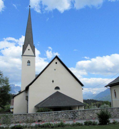 Pfarrkirche St. Stefan an der Gail (Bild: Peter Sternig). Südwestlich davon: Pfarrhof St. Stefan.