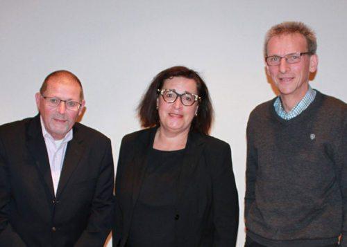 vlnr.: Dr. Sieghard Wilhelmer (ViDeo), Prim. Dr. Christa Rados, Dipl-Ing. Martin Sattlegger (KAV) (© Foto: ZS)