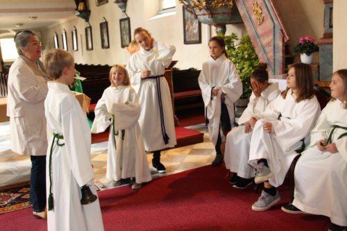 Üben in der Kirche (C) Bettina Mayer