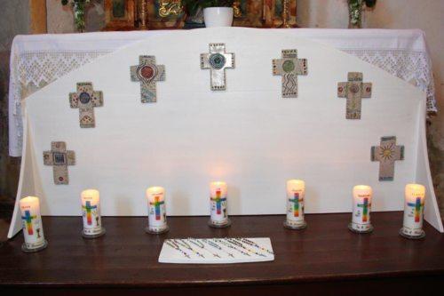 Sveče naših prvoobhajancev (© Foto: SK)