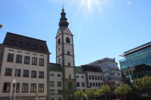Blick auf die Klagenfurter Domkirche (Dompfarre)