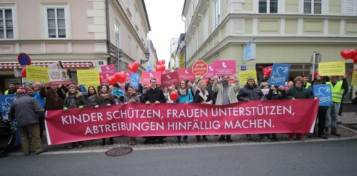 Kundgebung für den Schutz des Lebens (© Foto: Madlin Peko )