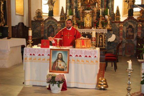 Provisor Mrawczynski – hl. Messe am Jahrestag der Priesterweihe. (Foto: Peter Sternig).