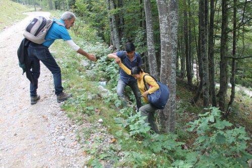 Gemeinsam wurden auch die schwierigsten Passagen gemeistert (© Auer/DSG Kärnten)