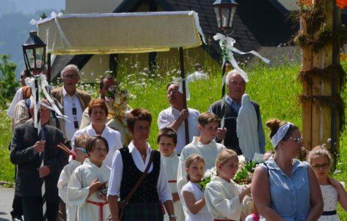 Bild zum Eintrag 'Fronleichnamsfest in den Pfarren St. Paul und St. Stefan an der Gail'