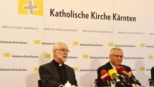 Der designierte Bischof Josef Marketz (li.) und der Apostolische Administrator Werner Freistetter (re.) - Foto: KH Kronawetter / Internetredaktion