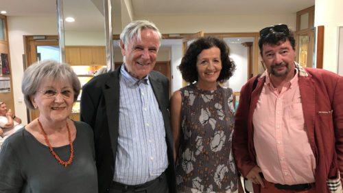 V.l.n.r.: Mag. Annemarie Weinzettl (KAV), Prof. Dr. Peter Stöger, Dr. Maja Haderlap und Dr. Egyd Gstättner (Foto © KH Kronawetter/Internetredaktion)