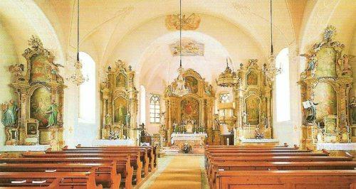 Innenraum der Pfarrkirche St. Florian (© Foto: Verlag St. Peter, Salzburg)