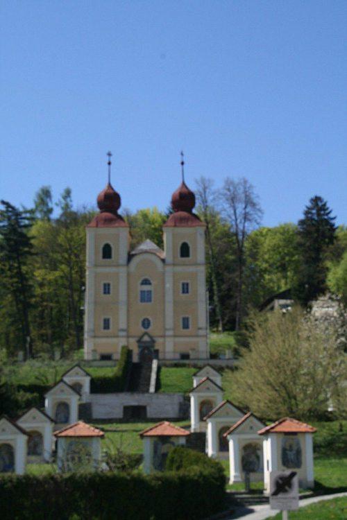 Blick auf die Klagenfurter Kreuzberglkirche (Foto: Stadtpastoral)