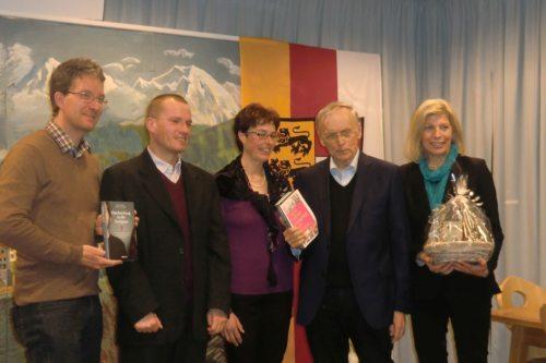 v.l.: Johannes Eder, Pfarrer Robert Wajda, Marion Stabentheiner, Prof. Paul Zulehner, Ingrid Sommer (© Foto: Michael Egartnerr)