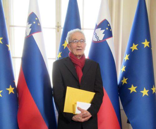 Florjan Lipuš je priznanje prejel na slovenski kulturni praznik. (Foto: Rihter)