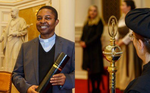 Promotion von Mag. Dr. Charles Ogbunambala Foto: Anton Wieser