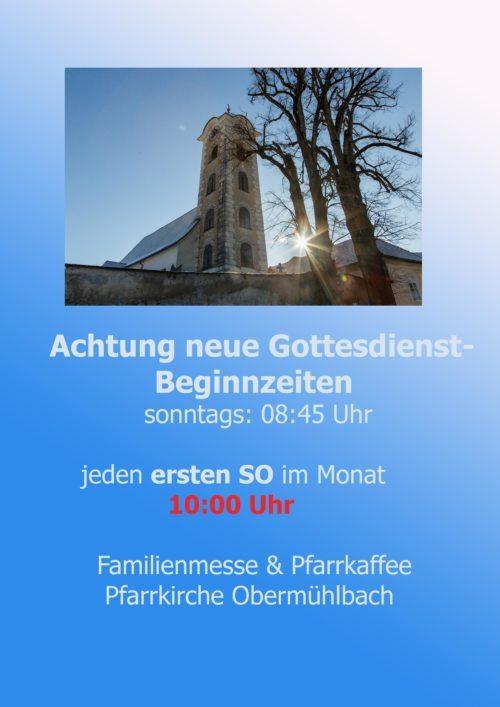 Neue Gottesdienstbeginnzeiten (© Foto: Anton Wieser)