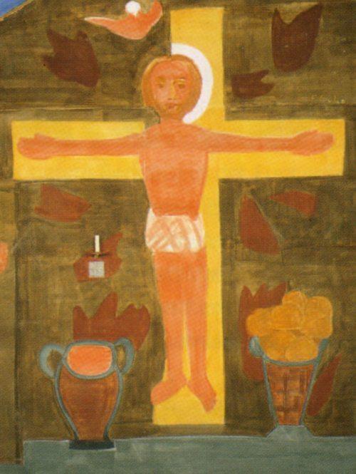 Ferdinand Gehr, aus dem Altarbild in der Kirche von Oberwill (CH) (© Foto: foto: r.e.)