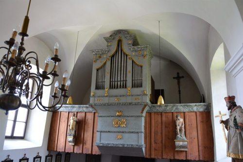 Die restaurierte Orgel in der Filialkirche Großbuch wird am kommenden Sonntag, dem 24. November, gesegnet. Foto: Pressestelle/Benedikt
