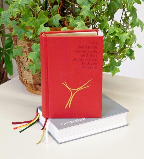 Neues Gotteslob  - Private (Beispiel rot) und Kirchenausgabe (grau) (© Foto: SA-Druckerei)