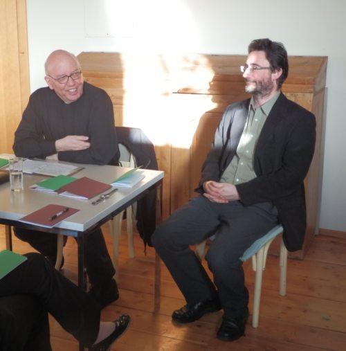 Referenten Herr Pfarrer Gfrerer und Mag. Klaus Einspieler (© Foto: Sabine Zehentner)