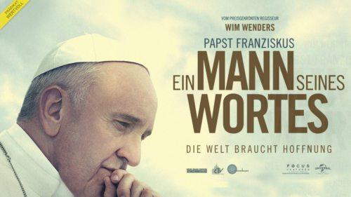 """Filmplakat """"Papst Franziskus - Ein Mann seinses Wortes"""""""