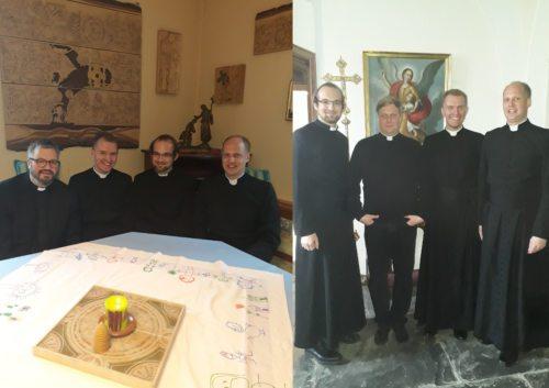 Pfarrsonntag in Klagenfurt-St. Theresia mit P. Dr. Thomas Petutschnig OSB (links) und in Klagenfurt-St. Egid mit Kaplan Mag. Sven Wege (Priesterseminar)