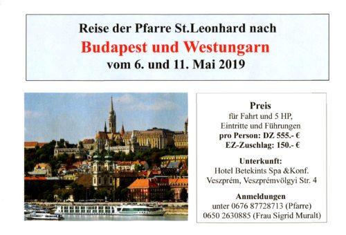 Einladung zur Teilnahme an dieser Reise