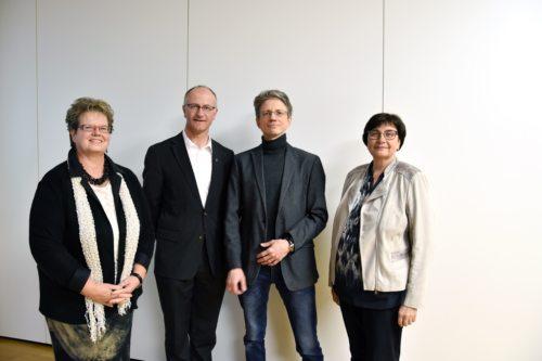 Predsedstvo Slovenskega pastoralnega odbora: Ani Boštjančič, Janko Krištof, Tonč Rosenzopf-Jank in Micka Opetnik (foto Nedelja)
