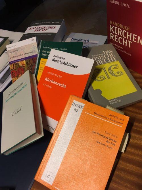 Kirchenrechtsbücher (© Foto: Inge Reinisch)