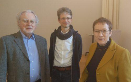 Prof. Dr. Karl Berkel mit Dr. Hennersperger und Mag. Rosenzopf-Jank (© Foto: Michael Kapeller)