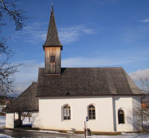 Filialkirche St. Johann | Podružnica Šentjanž © Foto: Pfarrarchiv