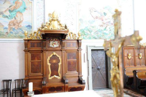 Škofov sedež v celovški stolnici (Gotthardt)