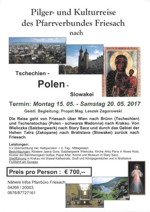 Einladung zur Polenreise (© Foto: Pfarre Friesach)