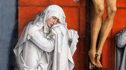 Detail aus Rogier von der Weyden, Christus am Kreuz mit Maria und Johannes (Foto: wikimedia-commons_public-domain)