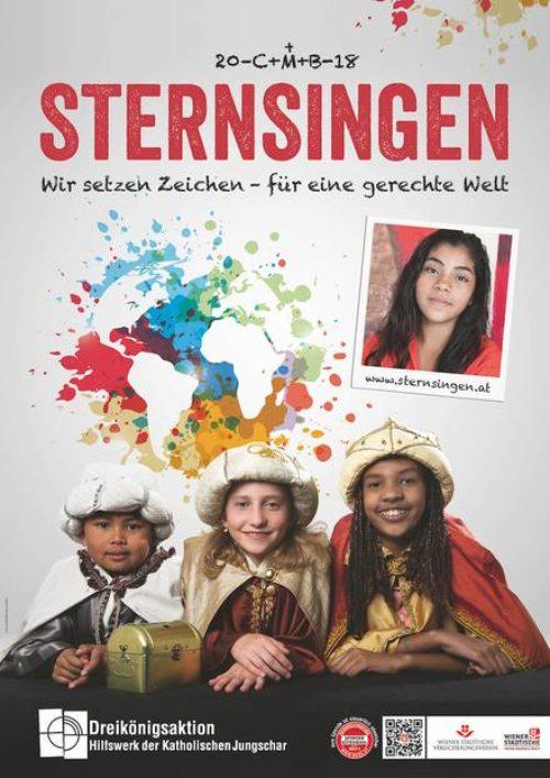 Sternsingerplakat 2018 (© Foto: Dreikönigsaktion der Katholischen Jungschar)