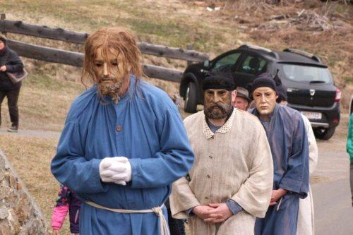 Jesus und seine Jünger auf dem Weg zum Ölberg (© Foto: Dr. Manuela Maier)
