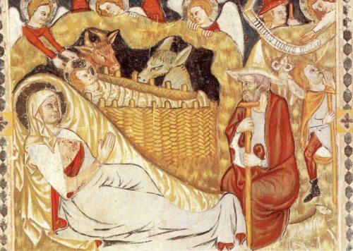 Geburt Christi, Fresko i.d. Vorhalle (1340), Gurker Dom, © Foto:Stift Gurk