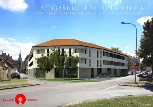 Am Freitag wird das generationenübergreifende Wohnprojekt durch Bischof Schwarz eröffnet.  (© Foto: Visualisierung, Arch. DI Omansiek )