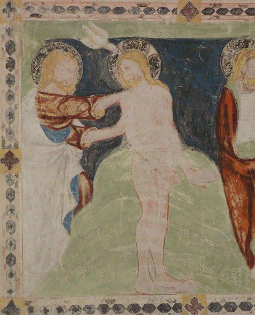 Taufe Jesus, Fresken Gurker Vorhalle (um 1340) (© Foto: Stift Gurk)