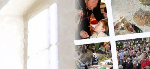 Ein Überblick über die vielen Dienste, die die Kirche in Österreich für die Menschen erbringt. (© Foto: Fotocollage: Haab (1), Kronawetter (4))